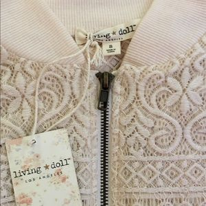 Living Doll Lace Bomber Jacket
